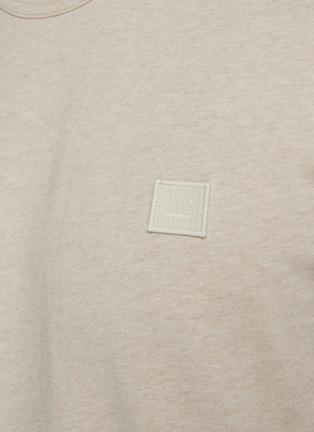 - ACNE STUDIOS - Face Patch Organic Cotton Crewneck T-shirt