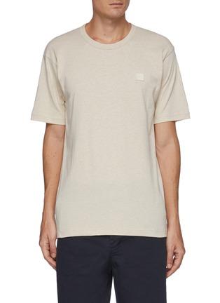 Main View - Click To Enlarge - ACNE STUDIOS - Face Patch Organic Cotton Crewneck T-shirt