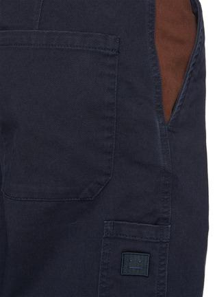 - ACNE STUDIOS - Contrast Pocket Insert Face Logo Patch Cotton Twill Pants