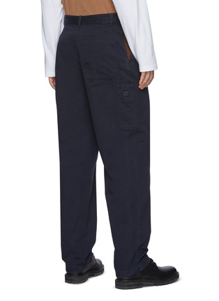 Back View - Click To Enlarge - ACNE STUDIOS - Contrast Pocket Insert Face Logo Patch Cotton Twill Pants