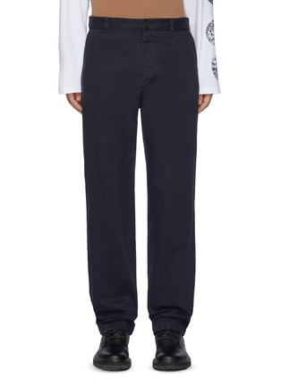 Main View - Click To Enlarge - ACNE STUDIOS - Contrast Pocket Insert Face Logo Patch Cotton Twill Pants