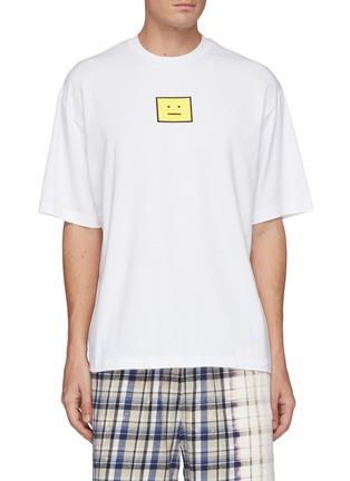 Main View - Click To Enlarge - ACNE STUDIOS - Face Logo Print Cotton T-shirt