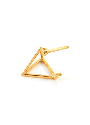 Detail View - Click To Enlarge - SHIHARA - 3D' 18k gold triangle single earring