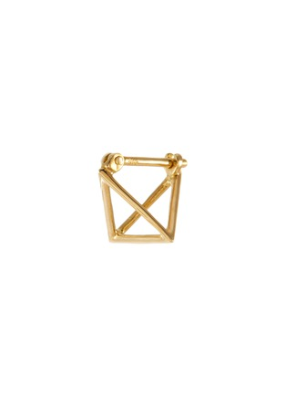 Main View - Click To Enlarge - SHIHARA - 3D' 18k gold triangle single earring