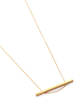 Detail View - Click To Enlarge - SHIHARA - 18k gold bar pendant necklace