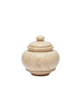Main View - Click To Enlarge - LORENZO VILLORESI - Tavertine Marble Jar — 17cm