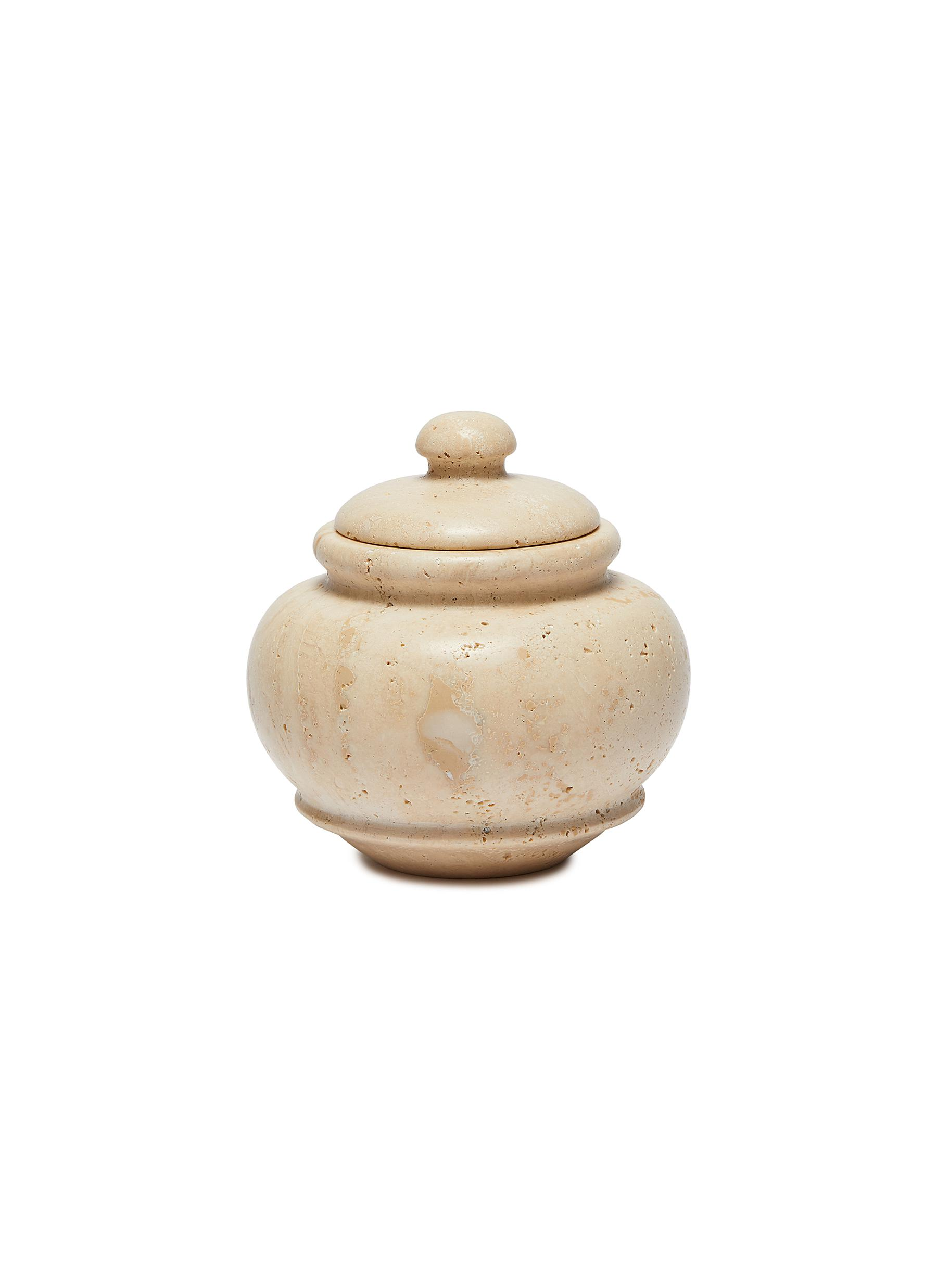 Tavertine Marble Jar