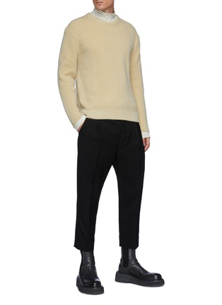 Figure View - Click To Enlarge - SOLID HOMME - Mohair Oversized Knit Sweater