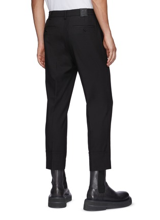 Back View - Click To Enlarge - SOLID HOMME - Elastic Waist Cuff Slit Pants