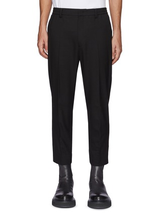 Main View - Click To Enlarge - SOLID HOMME - Elastic Waist Cuff Slit Pants