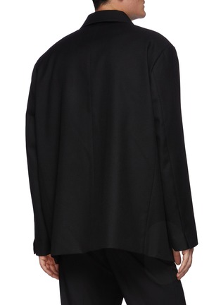 Back View - Click To Enlarge - SOLID HOMME - Oversize Three Button Blazer
