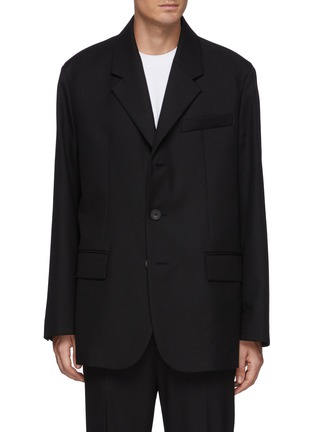 Main View - Click To Enlarge - SOLID HOMME - Oversize Three Button Blazer