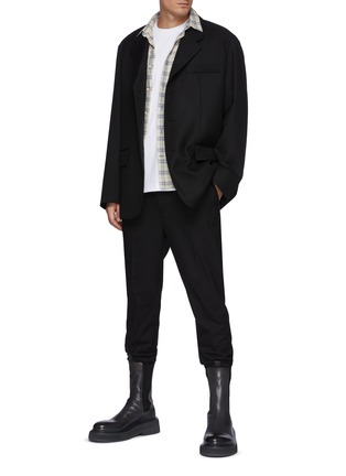 Figure View - Click To Enlarge - SOLID HOMME - Oversize Three Button Blazer