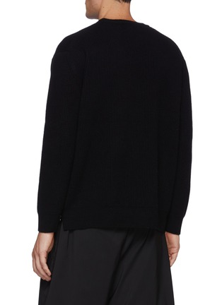 Back View - Click To Enlarge - SOLID HOMME - Cashmere Zip Sweater