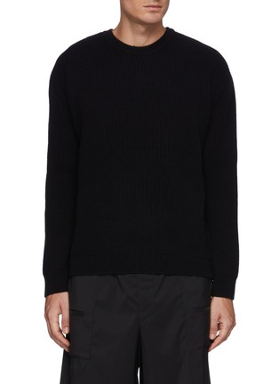 Main View - Click To Enlarge - SOLID HOMME - Cashmere Zip Sweater