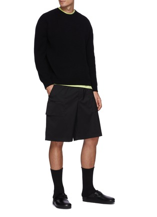 Figure View - Click To Enlarge - SOLID HOMME - Cashmere Zip Sweater
