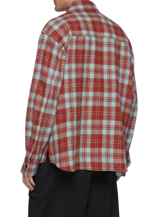 Back View - Click To Enlarge - SOLID HOMME - Multi-colour Check Shirt Jacket