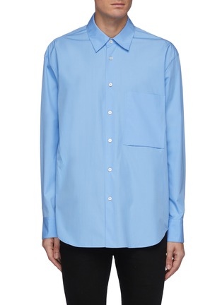 Main View - Click To Enlarge - SOLID HOMME - Plain Double Pocket Shirt