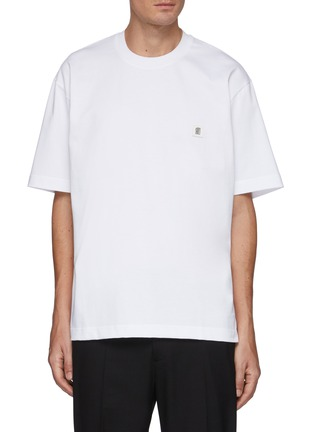Main View - Click To Enlarge - SOLID HOMME - Logo Back T-shirt