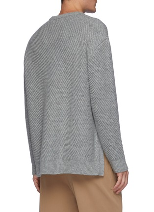 Back View - Click To Enlarge - SOLID HOMME - Mohair Oversized Knit Sweater