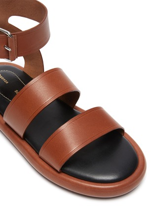 Detail View - Click To Enlarge - PROENZA SCHOULER - Double Strap Leather Sandals