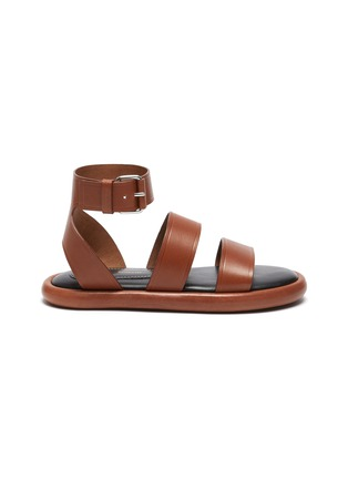 Main View - Click To Enlarge - PROENZA SCHOULER - Double Strap Leather Sandals