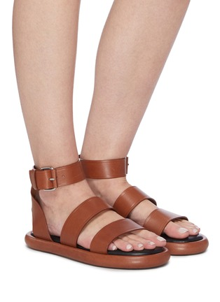 Figure View - Click To Enlarge - PROENZA SCHOULER - Double Strap Leather Sandals