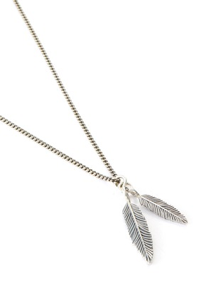 Detail View - Click To Enlarge - EMANUELE BICOCCHI - Double Feather Pendant Sterling Silver Necklace