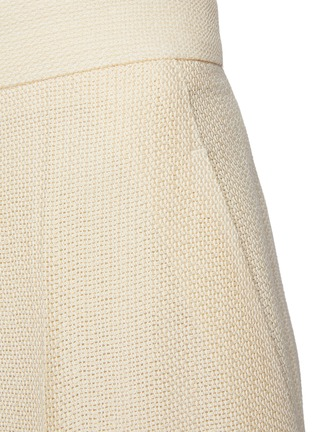 - PETAR PETROV - 'Greta' basket weave silk blend suiting pants