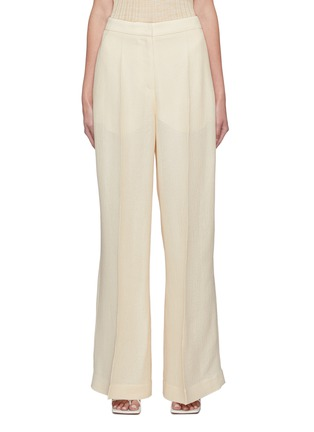 Main View - Click To Enlarge - PETAR PETROV - 'Greta' basket weave silk blend suiting pants