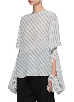 Detail View - Click To Enlarge - PETAR PETROV - 'Castel' elongated sleeve stripe blouse