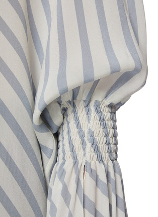- PETAR PETROV - 'Castel' elongated sleeve stripe blouse