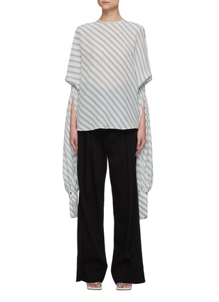 Main View - Click To Enlarge - PETAR PETROV - 'Castel' elongated sleeve stripe blouse