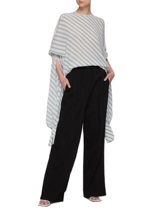 Figure View - Click To Enlarge - PETAR PETROV - 'Castel' elongated sleeve stripe blouse