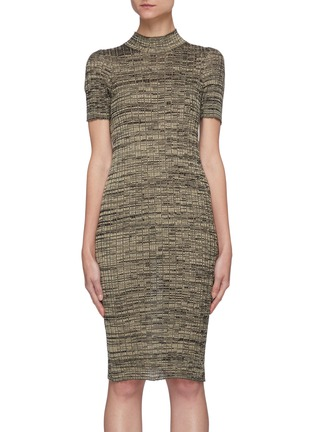 Main View - Click To Enlarge - PETAR PETROV - 'Electra' mottle silk knit bodycon dress