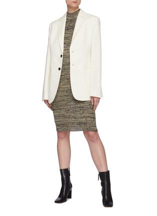 Figure View - Click To Enlarge - PETAR PETROV - 'Electra' mottle silk knit bodycon dress