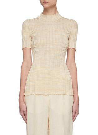 Main View - Click To Enlarge - PETAR PETROV - 'Ema' rib knit short sleeve top