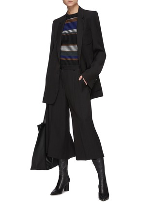 Figure View - Click To Enlarge - PETAR PETROV - Geneva' Cropped Wide Legged Culottes