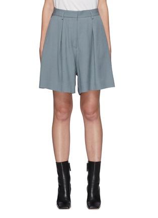 Main View - Click To Enlarge - PETAR PETROV - Garcia' Centre Pleat Wide Leg Shorts