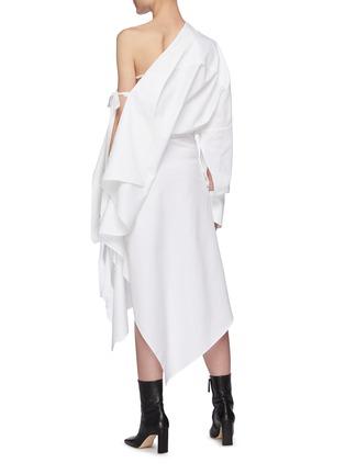 Back View - Click To Enlarge - PETAR PETROV - 'Aaber' off shoulder asymmetric hem dress