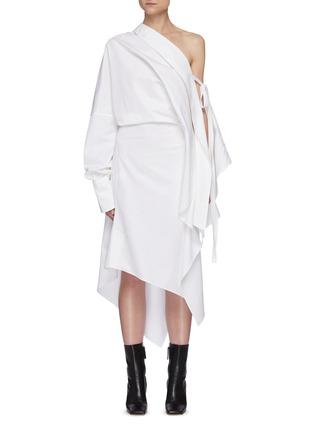 Main View - Click To Enlarge - PETAR PETROV - 'Aaber' off shoulder asymmetric hem dress
