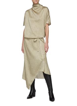 Figure View - Click To Enlarge - PETAR PETROV - Abiann' Cowl Neck Silk Dress