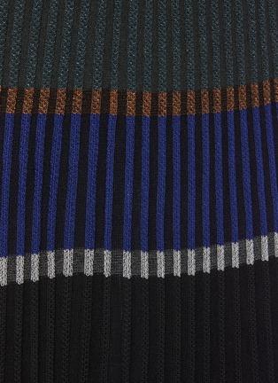 - PROENZA SCHOULER - Horizontal Stripe Pleated Rib Knit Midi Skirt