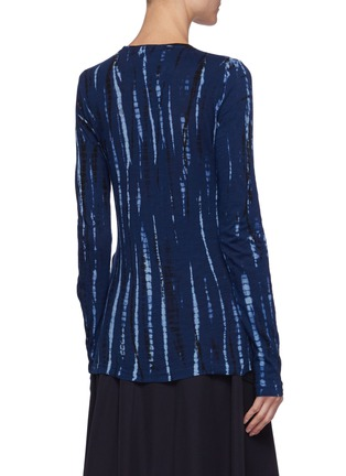 Back View - Click To Enlarge - PROENZA SCHOULER - Tie Dye Long Sleeves T-shirt