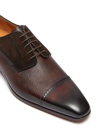 Detail View - Click To Enlarge - MAGNANNI - Bi-texture Toe Cap Derby
