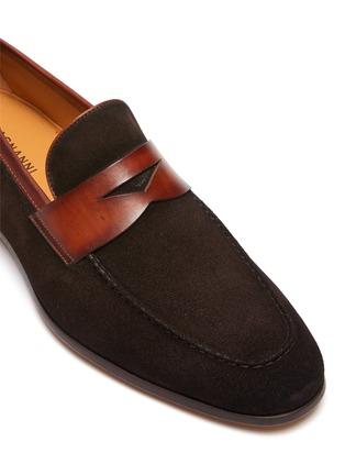 Detail View - Click To Enlarge - MAGNANNI - Bi-Mat Suede Penny Flex Loafer
