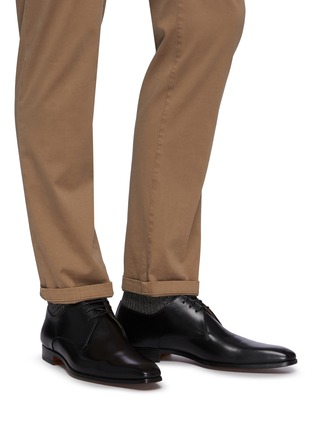 Figure View - Click To Enlarge - MAGNANNI - 3-eye Leather Derby Shoes