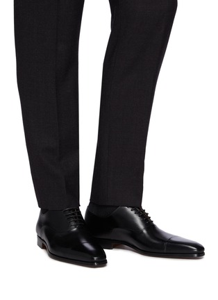 Figure View - Click To Enlarge - MAGNANNI - 6 Eyelet Toe Cap Flex Oxford