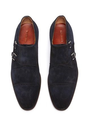 Detail View - Click To Enlarge - MAGNANNI - Suede Double Monk