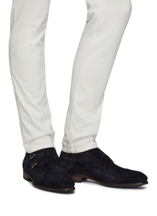 Figure View - Click To Enlarge - MAGNANNI - Suede Double Monk